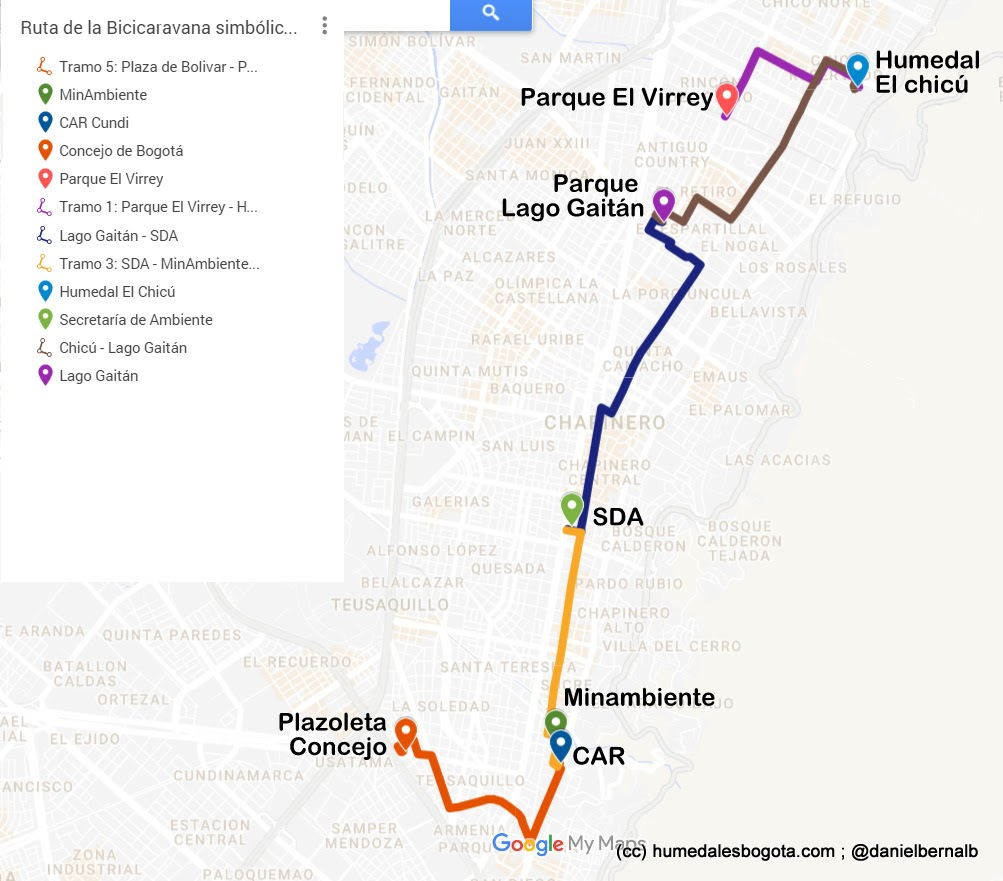 Mapa bicicaravana
