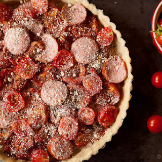 Tomato, Sausage and Goat Cheese Tart