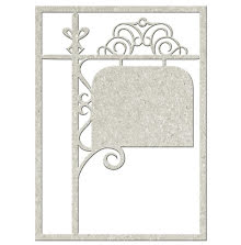 FabScraps Vintage Elegance Die-Cut Chipboard Shape - Filigree Signpost