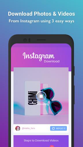 Video, Photo & Story downloader for Instagram - IG screenshot 2