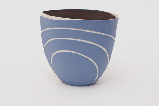 Penny Fowler Ceramic Blue Vessel 01