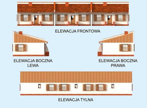 Lublana 2 C dom mieszkalny (zabudowa szeregowa) - Elewacje