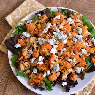 Spicy Buffalo Cauliflower Bites with Blue Cheese