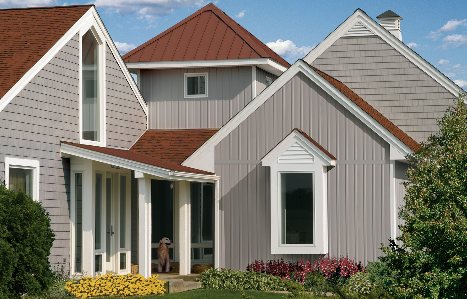 house siding colors 28 of the most popular optionsTaupe House With A Red Roof #5