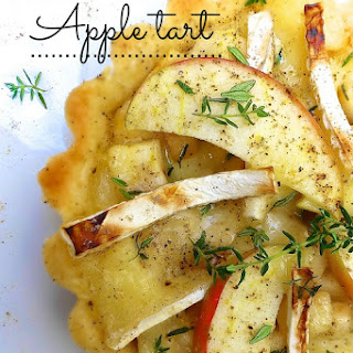 Apple Tart Recipe with Baked Brie
