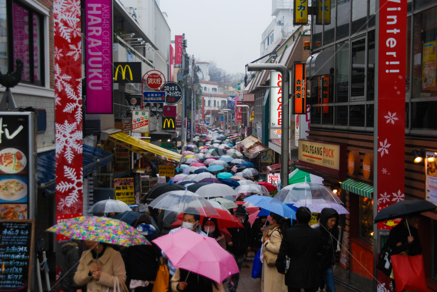 Tokyo Rain by Jordan McDonald - People Street & Candids ( japan, umbrella, tokyo, people, rain )