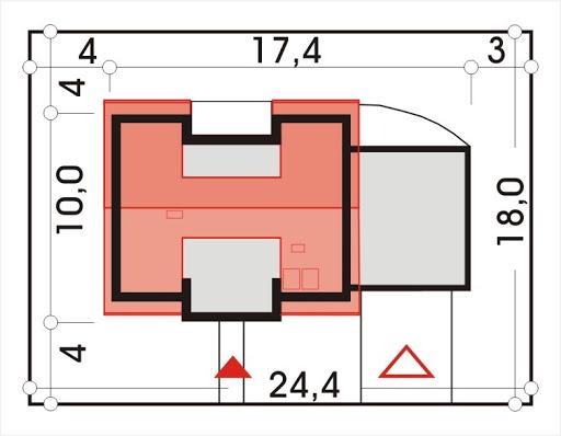 Adaś wersja C z podwójnym garażem - Sytuacja