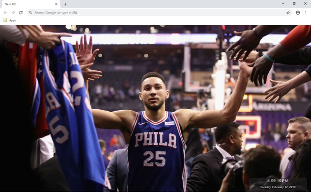 Ben Simmons New Tab & Wallpapers Collection