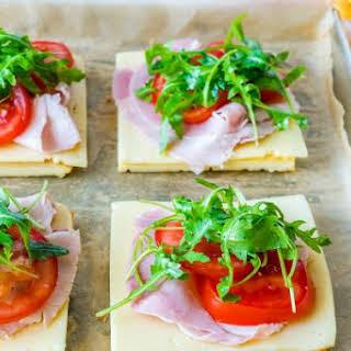Ham + Cheese Omelette Breakfast Sandwiches.