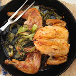 Garlic & Ginger Chicken with Caramelized Bok Choy & Scallions Recipe