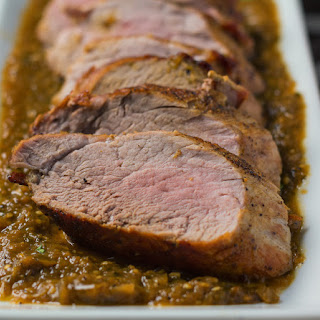 Roasted Pork with Tomatillo Sauce.