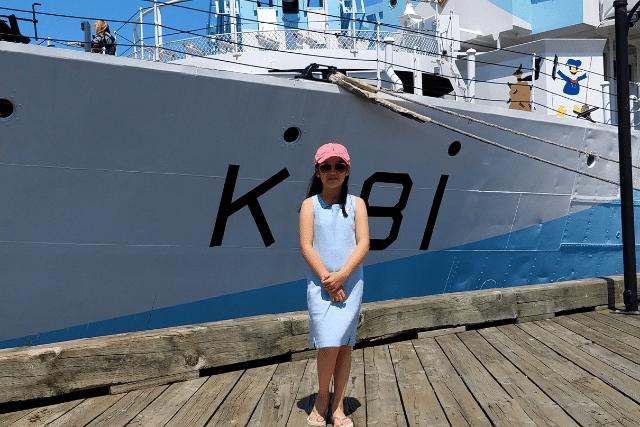 Hatch Coding student, Selina down at the marina