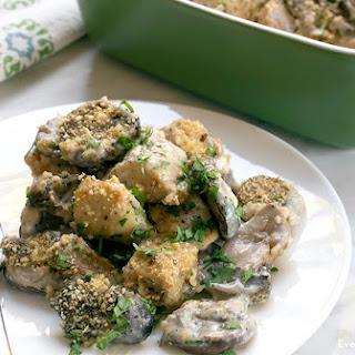 Mushroom Chicken Gouda Bake