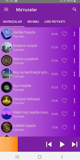 Fozil qori ma'ruzalari 3.0 screenshots 3