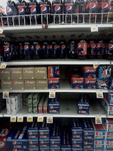 Photo: I started my shopping with Pepsi, they had a great deal buy two 12 packs, get 3 free! The Pepsi section was looking a little sparse.s