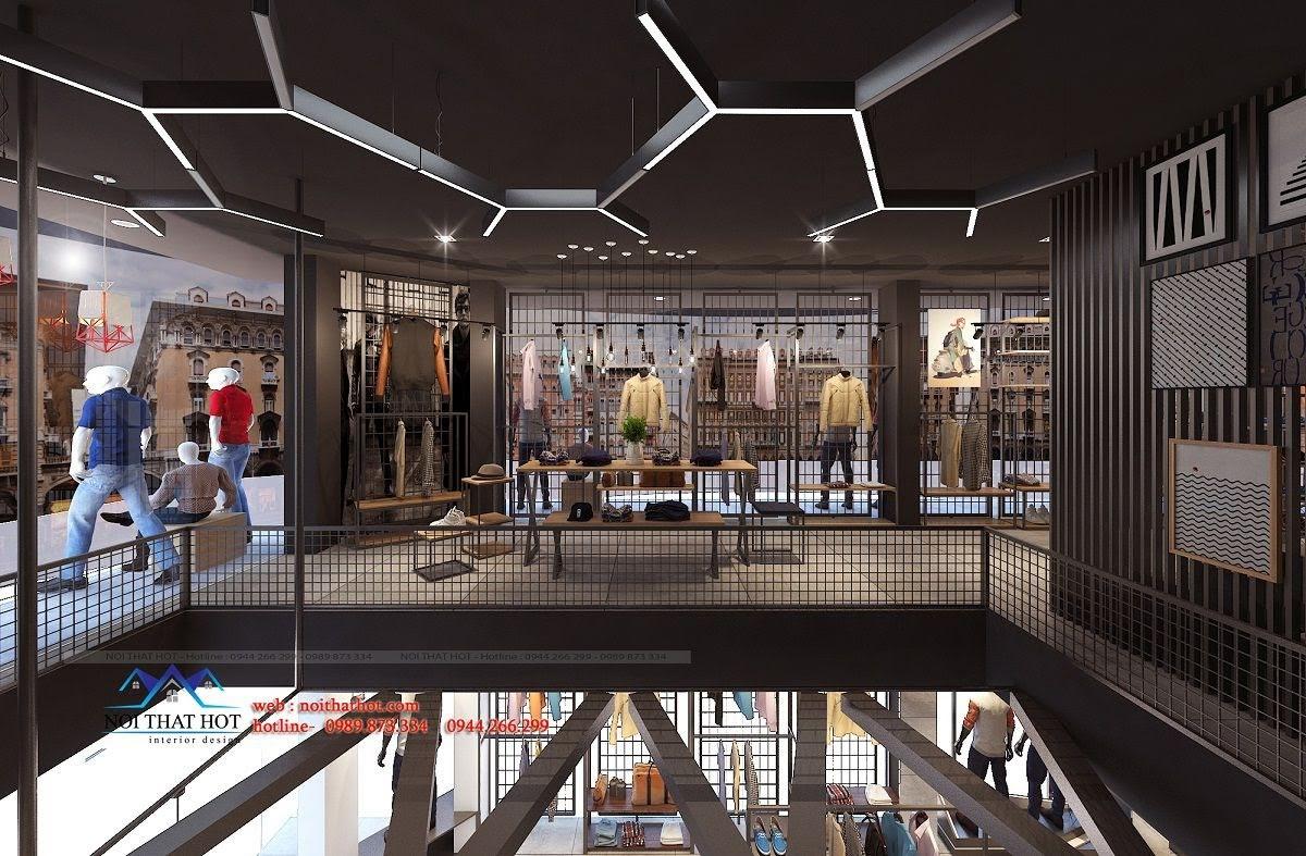 thiết kế shop thời trang nam H2T 11