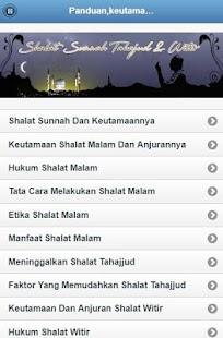 Shalat Tahajud & Witir - náhled