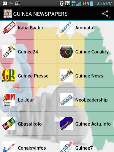 GUINEA NEWSPAPERS