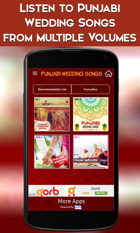 Punjabi Wedding Songs Screenshot