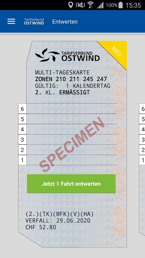 OSTWIND Tickets – Screenshot