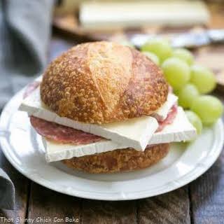 Brie, Jam and Salami Sandwich.
