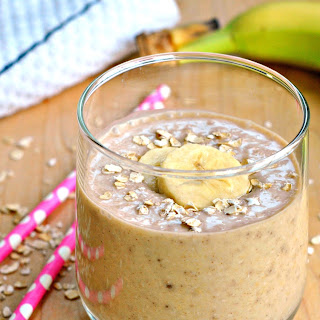Peanut Butter Banana Oatmeal Smoothie.