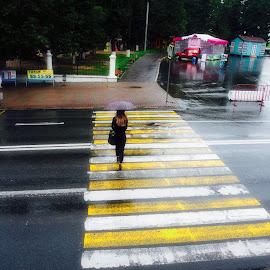 Непогода by Oleg M Kulishov - City,  Street & Park  Street Scenes ( город, погода, переход )