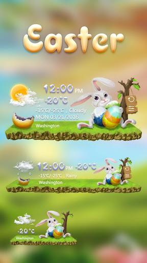 Easter GO Weather Widget Theme