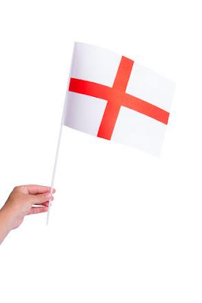 Pappersflagga, England