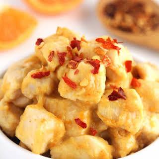 Easy & Skinny Spicy Orange Chicken.