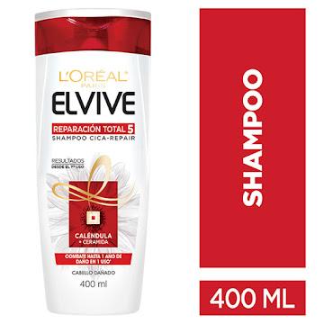 Shampoo L´OREAL ELVIVE   reparación total 5+ reparador x400ml