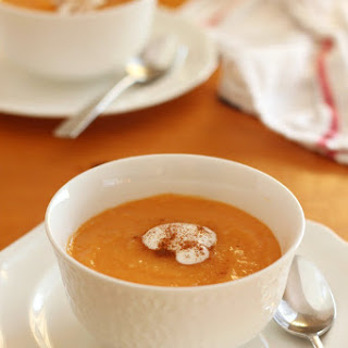 Simple & Healthy Sweet Potato Ginger Soup.