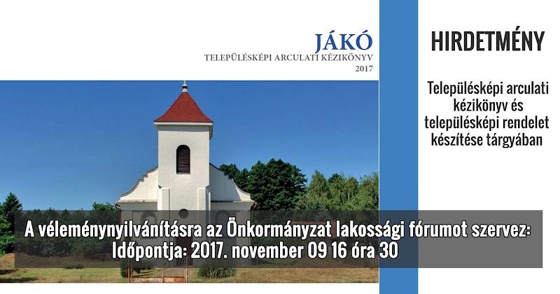 Településképi arculati kézikönyv és településképi rendelet vélemény nyilvánítás 2017.11.09