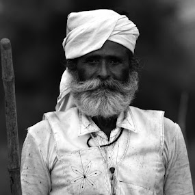 The Indian Village Man by Digant Dalal - People Portraits of Men ( poor man, village man, stock image, indian village man, indian village people, india, india images, people )