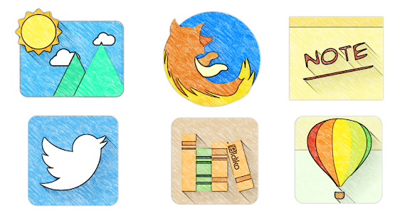 Sketchy - Icon Pack screenshot 1