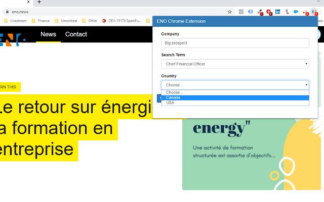 ENO browser extension
