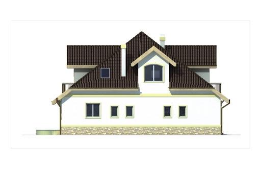 Agio wersja A z pojedynczym garażem - Elewacja lewa