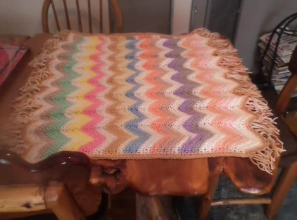 This Is The One On The Far Left In First Picture. It Is Now Finished. Complete With Edging And Fringe