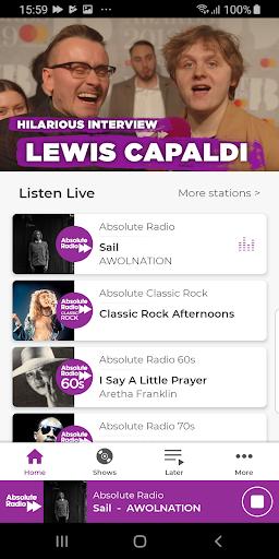 Absolute Radio screenshot 1