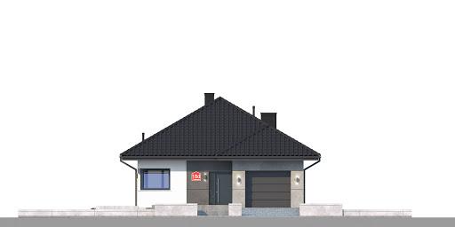 Dom przy Pastelowej 18 bis - Elewacja przednia