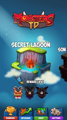 Monster TD - Treasure Defense mod apk 1.0 screenshots 1
