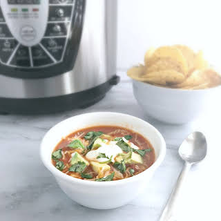 Pressure Cooker Chicken Taco Soup.