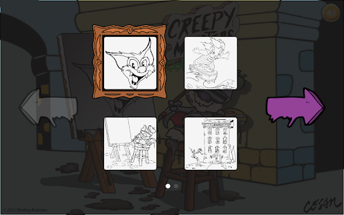 Creepy Monsters: Coloring Chills- screenshot thumbnail