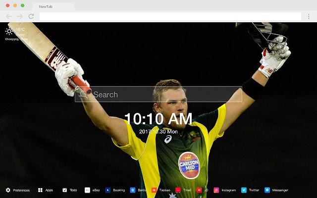Cricket new tab sports HD wallpaper theme