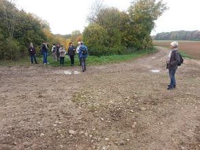 Photo: Séparation des deux groupes, 14 km et ...