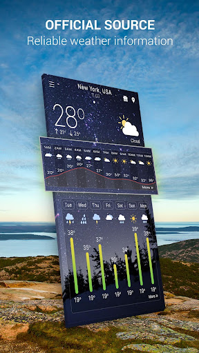 Hourly Weather Pro app for Android screenshot