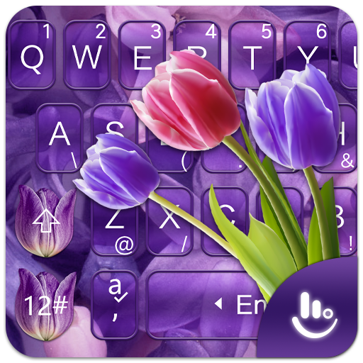 Purple Tulip Keyboard Theme