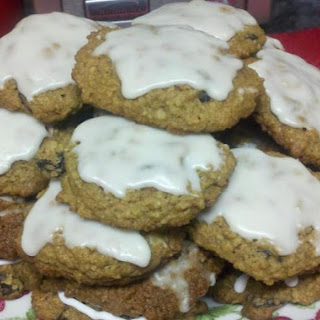 Grandma Ann's Iced Oatmeal Spice Cookies