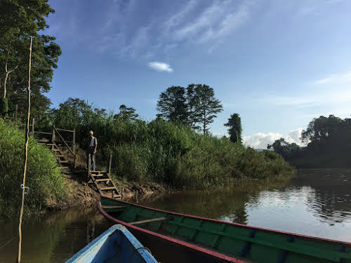 How to Organize your Trip to See Wild Orangutans in Kutai National Park // Canoe ride to the park entrance