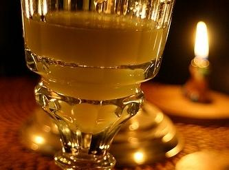One pours the absinthe in an absinthe glass made primarily for this purpose. In...